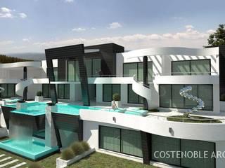OPUS V13-19 Casas de estilo moderno de MANSION DESIGN Moderno