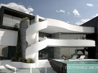 OPUS V13-15 Casas de estilo moderno de MANSION DESIGN Moderno