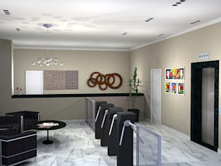 Modern corridor, hallway & stairs by 151 office Arquitetura LTDA Modern