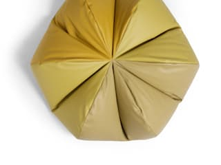 Leather Beanbag — Pomme:   by Mille Couleurs London
