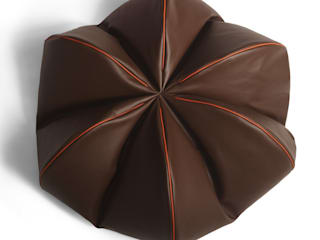 Leather Beanbag—Chocolat:   by Mille Couleurs London