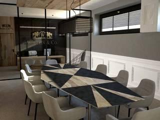 Sala konferencyjna: styl , w kategorii Przestrzenie biurowe i magazynowe zaprojektowany przez MART-DESIGN