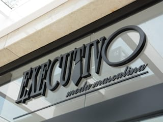 Studio C.A. Arquitetura Offices & stores MDF Black