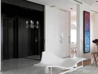 Living room by DIEGO REVOLLO ARQUITETURA S/S LTDA., Modern