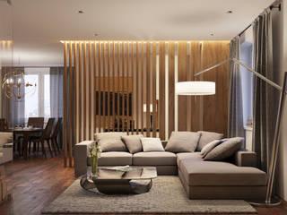 Гостиная в стиле модерн от homify Модерн Дерево Эффект древесины