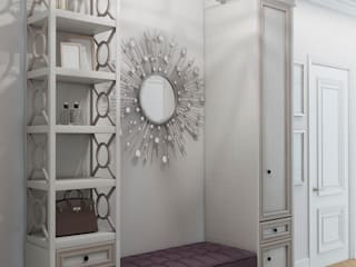 Be In Art Eclectic style corridor, hallway & stairs Engineered Wood White
