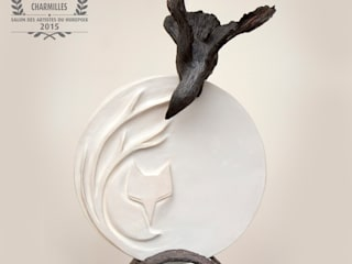 Nathalie Landot ArtworkSculptures Ceramic White