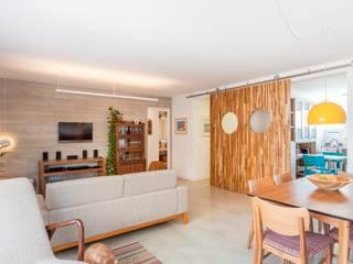 Nautilo Arquitetura & Gerenciamento Moderne Wohnzimmer Beton