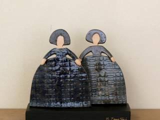 Meninas de mz ceramica Moderno