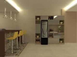 Balcones y terrazas modernos de Beatrice Oliveira - Tricelle Home, Decor e Design Moderno