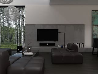 Prosta przestrzeń Nowoczesny salon od Zeler Design Nowoczesny