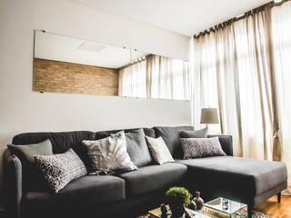 Salas de estilo moderno de Carmen Anjos Arquitetura Ltda. Moderno