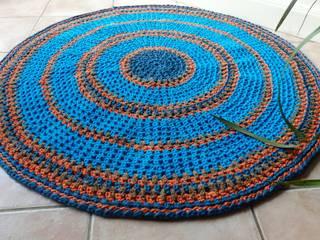 Grand tapis rond crocheté:  de style  par Fait en Chiffon