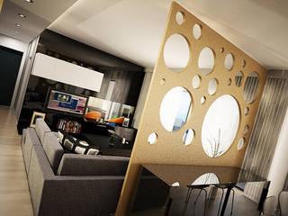 Moradia Boa Nova Salas de estar modernas por Espaço FA – Arquitetura, Interiores e Decoração Moderno