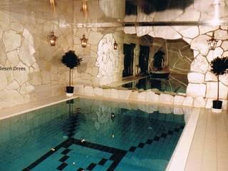 FD Fliesen GmbH Rustic style pool Stone