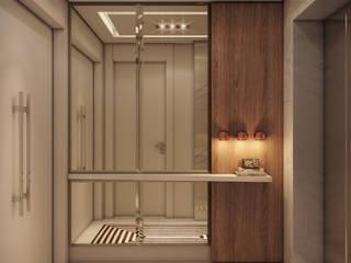 Apartamento em Miami - Château beach: Corredores e halls de entrada  por Giovanna Castagna Arquitetura Interiores