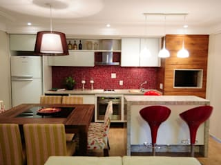 Angela Ognibeni Arquitetura e Interiores Modern dining room