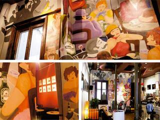 """Mural artístico para el """"Café Galdós"""" de Trestepintan Clásico"""