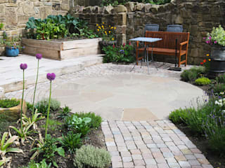 Contemporary Cottage Garden Rustic style garden by Yorkshire Gardens Rustic