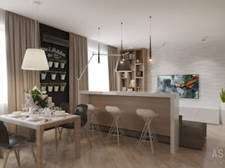 Salas de estilo minimalista de Студия авторского дизайна ASHE Home Minimalista