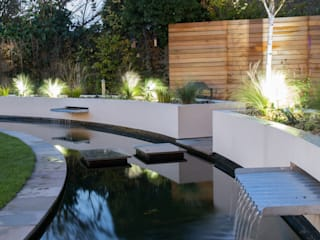 Cool but Funky, Contemporary Garden Yorkshire Gardens Jardin moderne