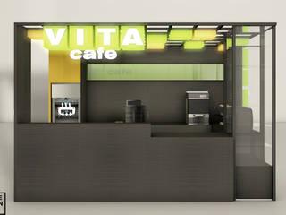 VITA CAFE - Stoisko gastronomiczne: styl , w kategorii  zaprojektowany przez IDEALNIE Pracownia Projektowa