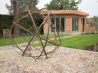 A Modern Garden with Traditional Materials Yorkshire Gardens Jardin moderne