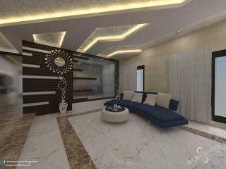 Prabhakar:  Living room by single pencil architects & interior designers