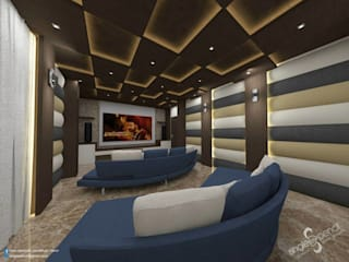 Prabhakar:  Media room by single pencil architects & interior designers
