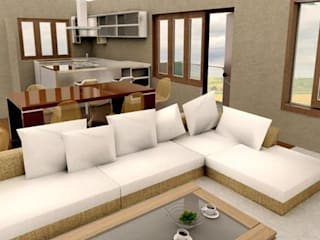 Living Area Designs:  Living room by single pencil architects & interior designers