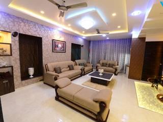 Gulmohor Modern living room by V9 - the interior studio Modern