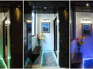 Project 875 Modern corridor, hallway & stairs by V9 - the interior studio Modern