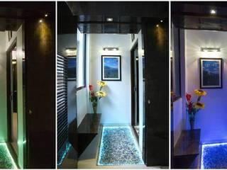 Pasillos, vestíbulos y escaleras de estilo moderno de V9 - the interior studio Moderno