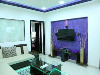 Project 875 Modern living room by V9 - the interior studio Modern
