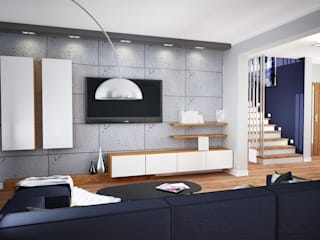 Granatowa strona betonu: styl , w kategorii  zaprojektowany przez PTW Studio