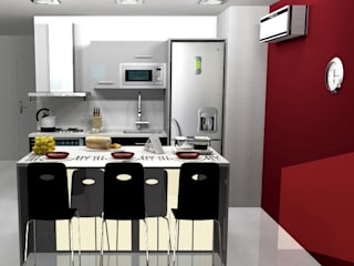 ARCE FLORIDA Modern kitchen Wood Wood effect