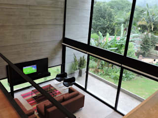 Minimalist living room by jose m zamora ARQ Minimalist Concrete