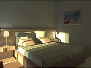 Guest House Quartos modernos por Joana Neto | Interiores Moderno