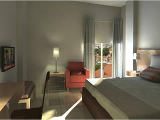Guest House : Quartos  por Joana Neto | Interiores,Moderno