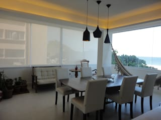 Dining room by Maria Helena Torres Arquitetura e Design, Eclectic