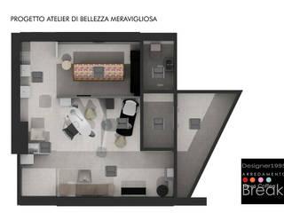 Atelier di Bellezza Meravigliosa centro estetica: Negozi & Locali Commerciali in stile  di Designer1995  Live Work Design