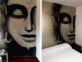 Pintura decorativa de Trestepintan Moderno