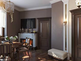 Проект 018: кухня + столовая: Столовые комнаты в . Автор – студия визуализации и дизайна интерьера '3dm2', Минимализм