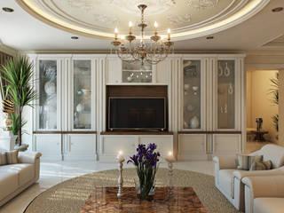 Проект 030: интерьер частного дома: Гостиная в . Автор – студия визуализации и дизайна интерьера '3dm2', Минимализм