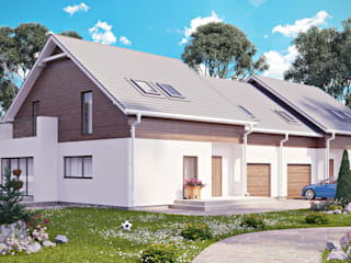 Проект 006: загородный дом: Дома в . Автор – студия визуализации и дизайна интерьера '3dm2', Минимализм