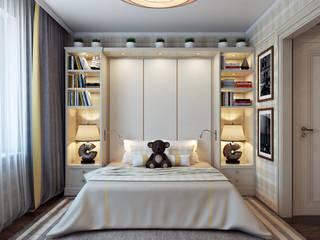 Проект 014: интерьер частного дома: Детские комнаты в . Автор – студия визуализации и дизайна интерьера '3dm2'