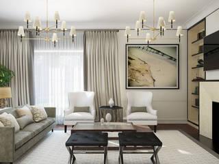 Проект 017: гостиная: Гостиная в . Автор – студия визуализации и дизайна интерьера '3dm2', Классический