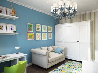 Проект 019: детская: Детские комнаты в . Автор – студия визуализации и дизайна интерьера '3dm2', Минимализм