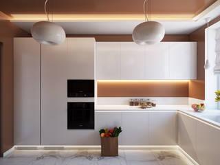 Проект 022: кухня: Кухни в . Автор – студия визуализации и дизайна интерьера '3dm2', Минимализм