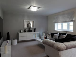 New Build Contemporary Interior Design Ealing Quirke McNamara Classic style living room Metallic/Silver